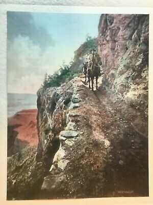 1910 era GRAND CANYON Arizona FRED HARVEY El Tovar Art Rooms Hand Colored Photos