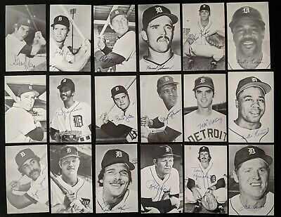 1960s-70s Detroit Tigers Postcards - Kaline Anderson EX-MT Cond (92pcs)