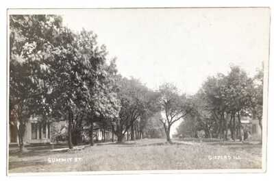 RPPC Tree Lined Summit Street Gifford, Illinois Champaign County