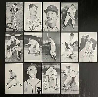 1957-58 Detroit Tigers Graphic Arts Service Postcards - Martin Bunning Kuenn (13
