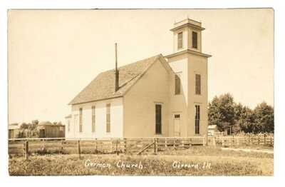 RPPC German Church In Gifford Illinois Champaign County