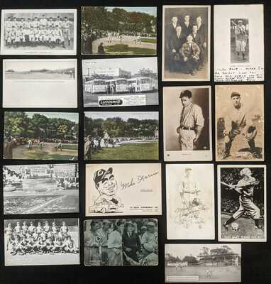 1910s-40s Baseball Postcards Some RPPC Real Photo (17pcs)