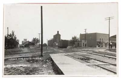 RPPC Lumber Yard And Elevator At Gifford, Illinois. Champaign County