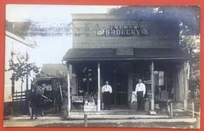 NEVER-SEEN RPPC J.W. Craw Grocery 607 West Springfield Ave. Champaign, Illinois.