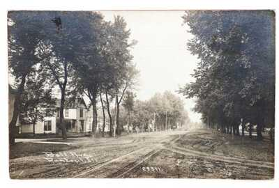 C.R. Childs RPPC Bell Avenue Residence Scene Rantoul, Illinois Champaign County
