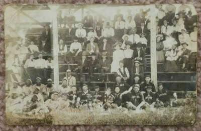 1908 Lennox South Dakota & Negro Black Baseball Team Postcard RPPC