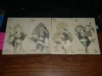 Falstaff Lemp Postcard set of 4