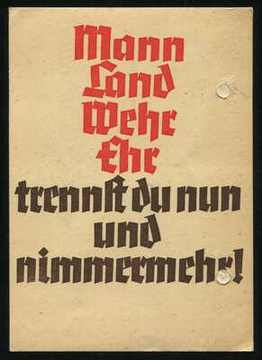 Germany 3rd Reich Original Postcard German WW2 WWII Wehrmacht Soldier Feldpost