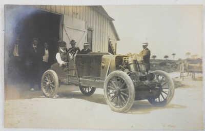 RPPC Ormond Daytona Beach Auto Race Car Early Racing Real Photo Postcard
