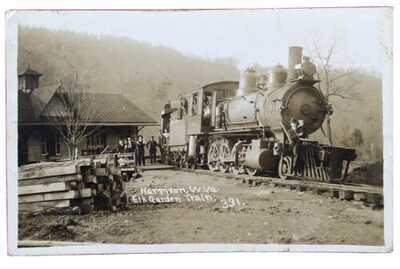 RPPC Elk Garden Train At Railroad Train Station/Depot In Harrison, West Virginia