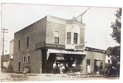 M.L. RPPC Of The George Koeth Edelweiss Bar In Fox Lake, Illinois. Lake County