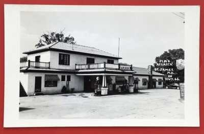 U.S. Highway Route 66 RPPC Of Jim's Alasta Service Station At St. James Missou
