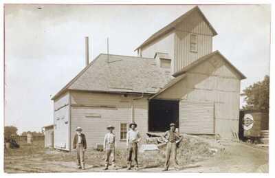 RPPC Illinois Central Railroad Grain Elevator In Pesotum, Illinois. Box Car