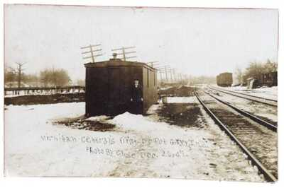 RPPC Michigan Central's First Railroad Depot At Gary Indiana