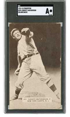 1913-15 Pinkerton #251 Christy Mathewson Postcard SGC Authentic ANDREA