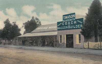 AUSTRALIA,VICTORIA,WANGARATTA,NIVEN ADVERT FOR T.M.MASON,BLACKSMITH,CP,UN,