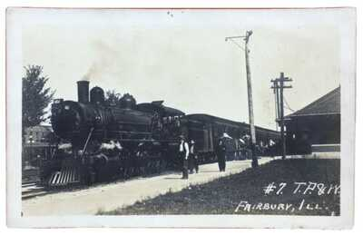 RPPC Toledo, Peoria & Western Railroad Depot Station In  Fairbury,  Illinois.