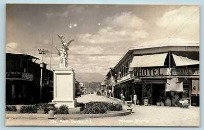Postcard PI Davao Philippines Santa Ana Street View RPPC Mikado Studio 1930s G31