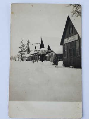 Street Scene Pine Idaho Photo Postcard RPPC 1909