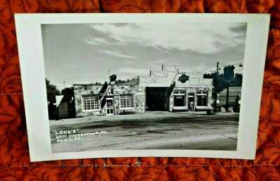 EARLY,LONG'S CAFE  WITH POWER'S GARAGE ON US 66,WAYNESVILLE,MISSOURI,REAL PHOTO
