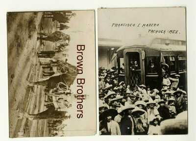 1911 Mexican Revolution Madero in Pachuca Real Photo Postcards RPPC (2pcs)