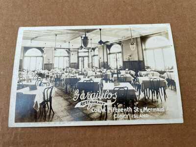 Real Photo Postcard RPPC Garguilos Restaurant Coney Island New York Unused