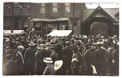 RPPC Corn Festival Crowd At Homer, Illinois. Champaign County. Interurban Depot