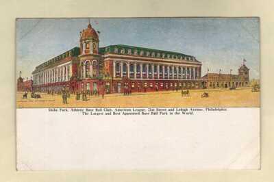 Baseball Stadium Shibe Park Philadelphia Athletics PENNSYLVANIA PA c.1909