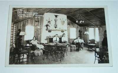 Vintage Postcard RPPC Emil Wanatka's Famous Little Bohemia Manitowish WI