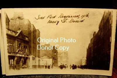 #D3712A,FIVE Real Photo Postcards,1916,Sinn Fein Rebellion Dublin Ireland