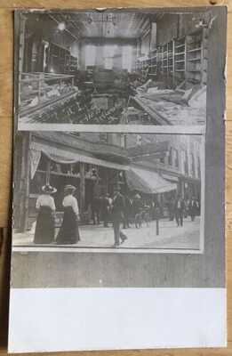 RPPC Pawn Shop & Star Theater Destroyed By Mob During Springfield Race Riots