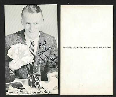 """1965 J.D.McCarthy """"Self-Portrait"""" Postcard, Autographed"""