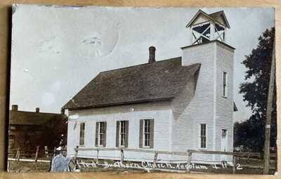 1909 RPPC United Brethern Church At Pesotum, Illinois. Champaign County