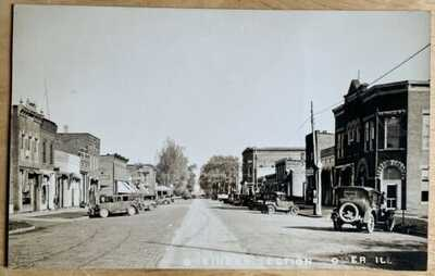 RPPC Main Street Business District At Homer, Illinois. Champaign County