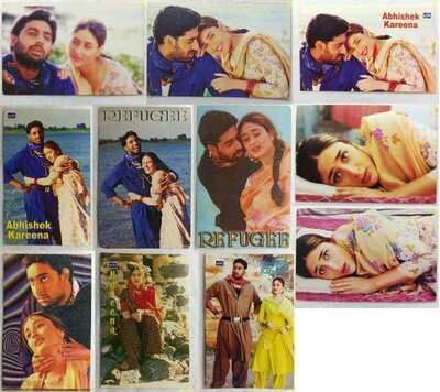 Bollywood actors: Abhishek Bachchan & Kareena Kapoor - Lot 47 Rare post cards