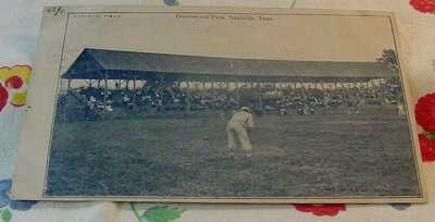 1908 Antique Nashville Negro League Baseball Vintage Postcard Of Greenwood Park