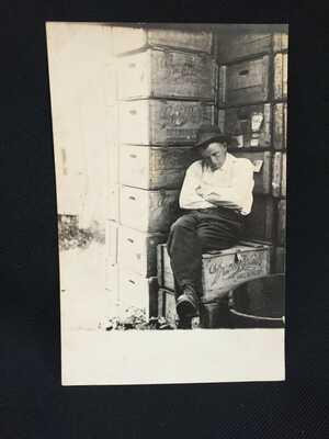 GREAT RPPC  - Man Sleeping Outside Grand Rapids Brewery - Grand Rapids, MI