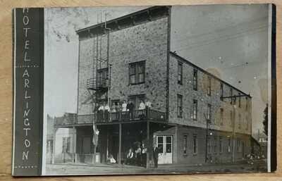 RPPC Hotel Arlington. Said To Be Rantoul, Illinois. Champaign County