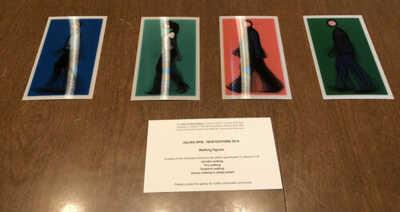 JULIAN OPIE NEW EDITIONS 2010 Lenticular Postcards Set Of 4 + 3 Extra 2012 RARE