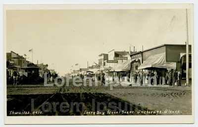 1916 Anchorage Alaska RPPC Every Day Street Scene 4th Ave by Thwaites