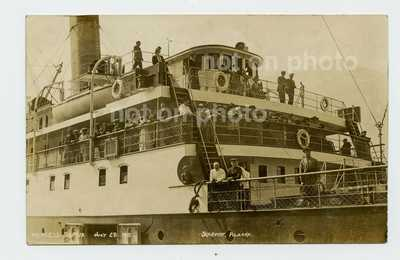 RPPC S.S. Princess Sophia at Skagway Alaska with Captain Locke July 1915