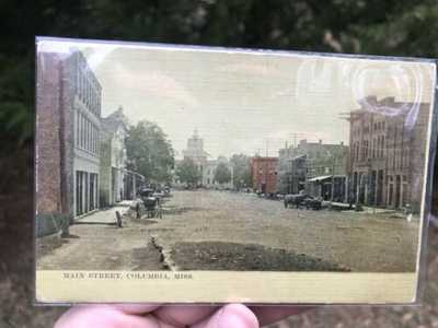 Antique 1913 MAIN STREET - COLUMBIA,MISS Mississippi Court House postcard