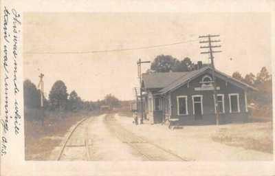 Fairfax Virginia Train Station Railroad Depot Real Photo Postcard AA1697