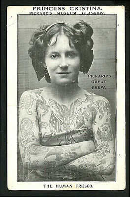 English/Scottish 1905 PRINCESS CRISTINA TATTOOED Woman PICKARD'S ~ VASTA Archive