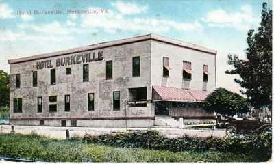 ~1910's BURKEVILLE NOTTOWAY CO. VA - Rare W.E. BURGESS view - Hotel Burkeville
