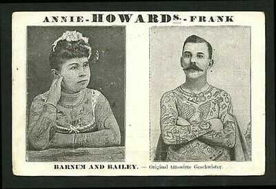 German 1900 TATTOOED Couple The HOWARDS Barnum & Bailey TATTOO ~ VASTA Archive