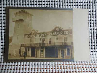 PRE 20 MOCLIPS LIVERY & TRANSFER CO MOCLIPS WASHINGTON REAL PHOTO POSTCARD RARE