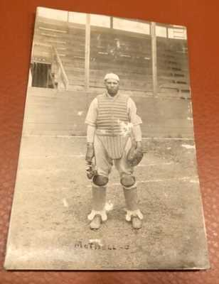 Negro League Catcher Dink Mothell Real Photo Postcard