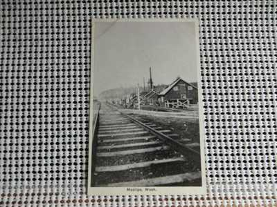 PRE 20 MOCLIPS WASHINGTON RAILROAD TRACKS POSTCARD