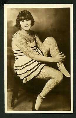 American 1930 TATTOOED Woman BERNICE BROADBENT Sells-Floto RPPC ~ VASTA Archive